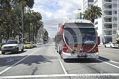 Transportation in Santa Monica California Editorial Photo