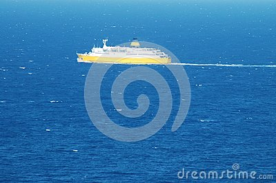 Transportation ship at sea