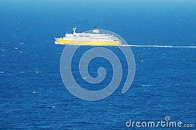 Transportation ship at sea