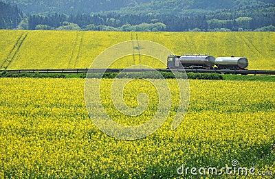Transportation truck road