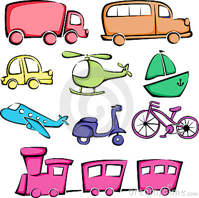 Transportation vehicles icons