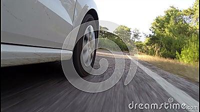 Transporte com carro video estoque
