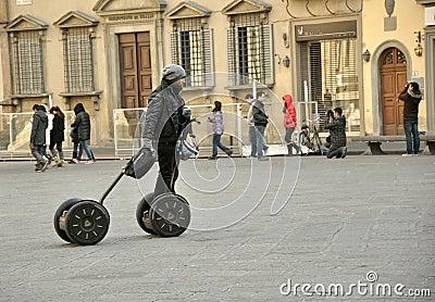 Transporte de Segway en Italia Imagen editorial