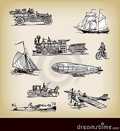 Transporte do vintage do vetor