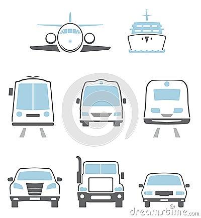 Transporte los iconos