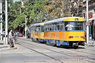Transporte público de Sofía Foto de archivo editorial