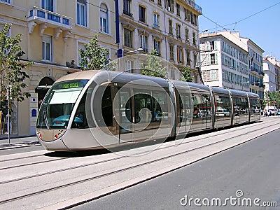 Tranvía en Niza