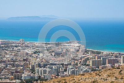 Trapani. Levanzo and Marettimo islands.