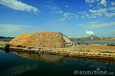 Trapani salt mills & basins, Sicily