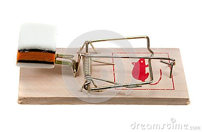 Sucrerie sur un piège de souris
