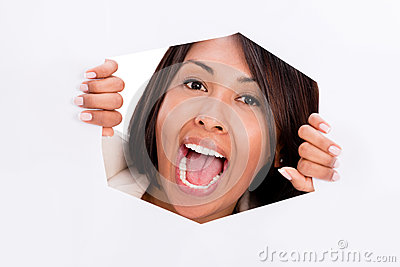 Trapped woman screaming
