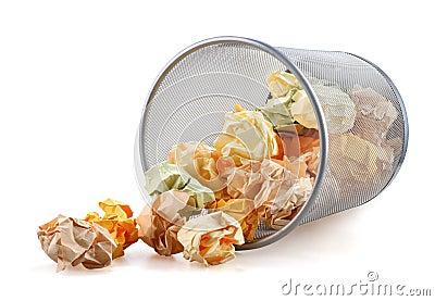 Trash bin tumbled