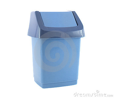 Trash Blue Container for Garbage