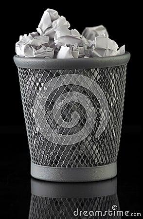 Trash can full