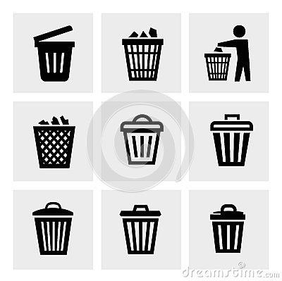 Free Trash Can Icon Royalty Free Stock Photos - 36691208