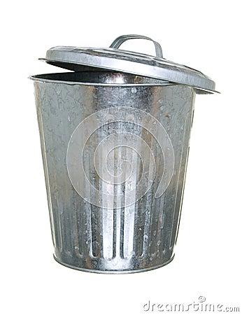 Free Trash Can, Lid Ajar Back Royalty Free Stock Image - 6575306