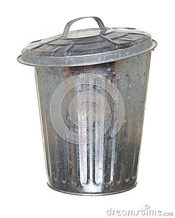Free Trash Can, Lid Ajar Forward Stock Photo - 6575260