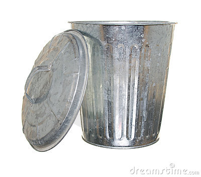 Trash can, lid off