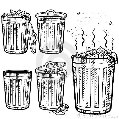 Free Trash Can Sketch Stock Image - 22724761