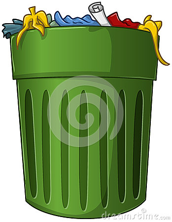 Trash Can With Trash Inside Stock Photo Image 36035640