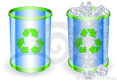 Trash cans.