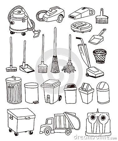 Free Trash Icons Set, Vector Illustration Royalty Free Stock Photography - 52731397