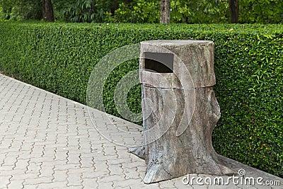 Trash sculptures stub.