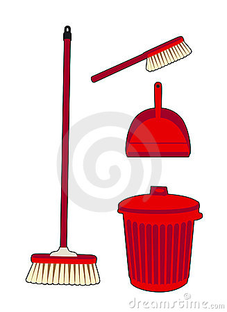 Trash and swept red