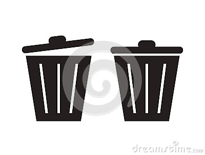 Trashcan silhouette