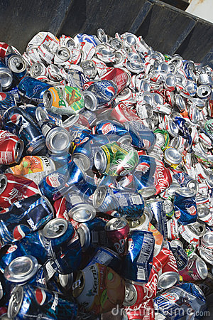 Trashed Cans Editorial Stock Image