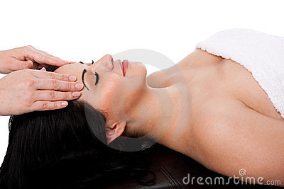 Tratamento facial da massagem