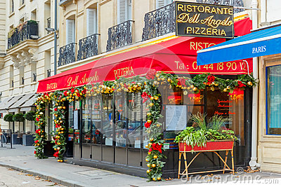 Trattoria Dell Angelo Near Eiffel Tower Paris Editorial Photo Image 58800441