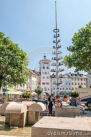 Traunstein Stadtplatz Editorial Stock Image
