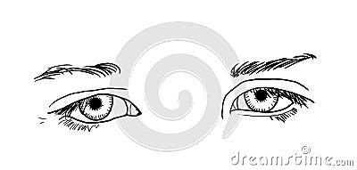 Traurige Augen