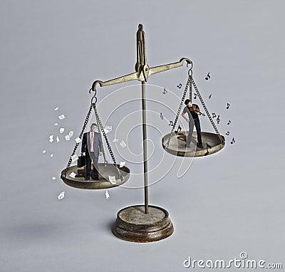 Travail et pièce de équilibrage