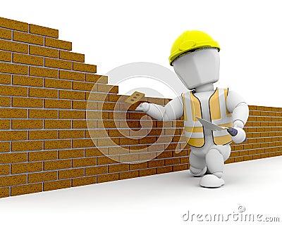 Travailleur de la construction 3d