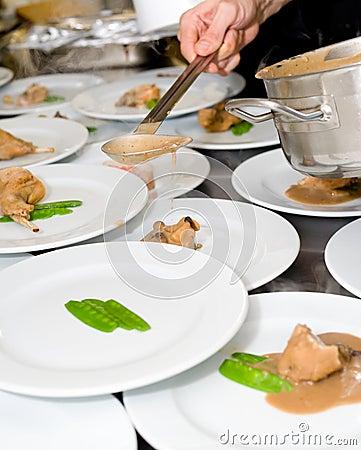 Travaux de cuisinier