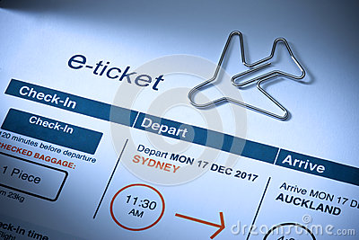 Travel Airplane E Ticket