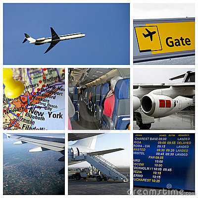 Free Travel Airport Collage Royalty Free Stock Photos - 13168938