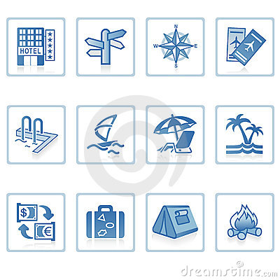 Free Travel And Vacation Icon I Royalty Free Stock Photography - 2217617