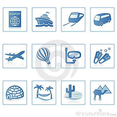 Free Travel And Vacation Icon II Royalty Free Stock Photos - 2217628