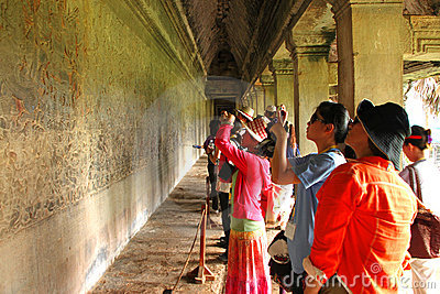 Travel in Angkor Wat Editorial Photo
