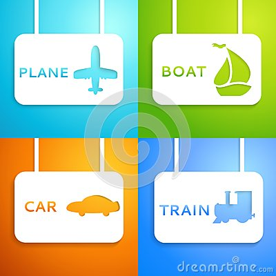 Travel applique background. Vector illustration