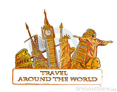Travel around the world,vector