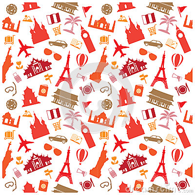 Free Travel Background, Pattern Stock Photo - 43859820