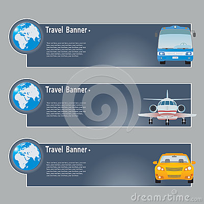 Travel Banners Royalty Free Stock Photo - Image: 25893345