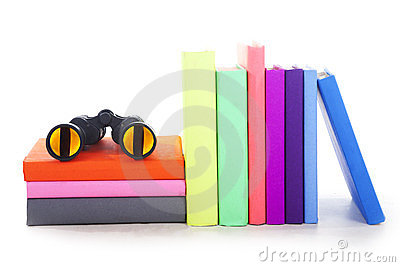 Travel books isolated on white