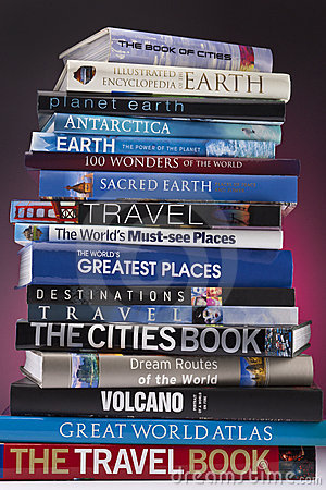 Travel Books - Worldwide Editorial Stock Image