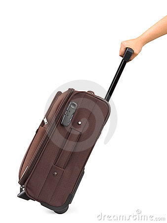 Free Travel Case And Hand Royalty Free Stock Photo - 10370925