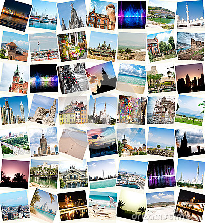 Free Travel Collage Royalty Free Stock Image - 38472546